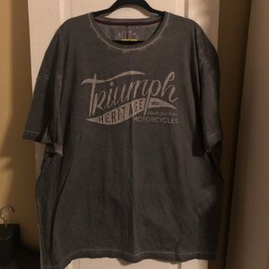Gray Men's Triumph Heritage Motorcycle Tee - 3XL